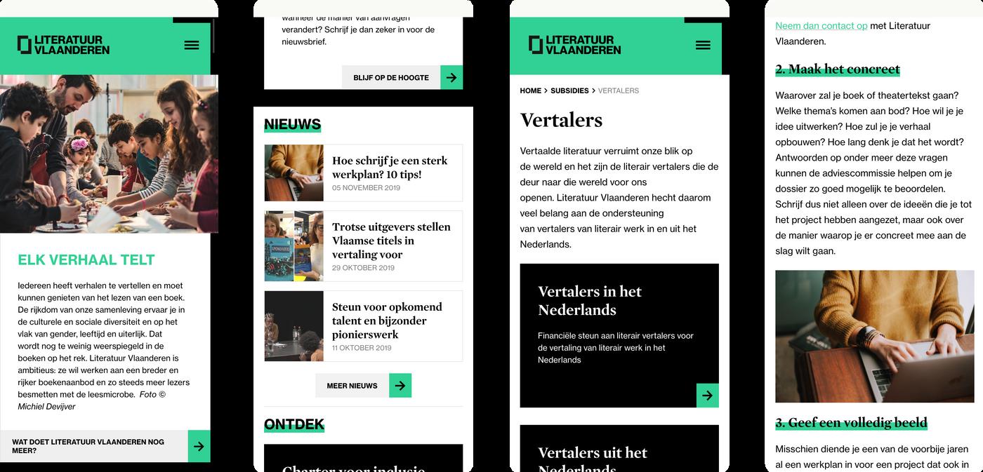 Literatuur Vlaanderen mobile