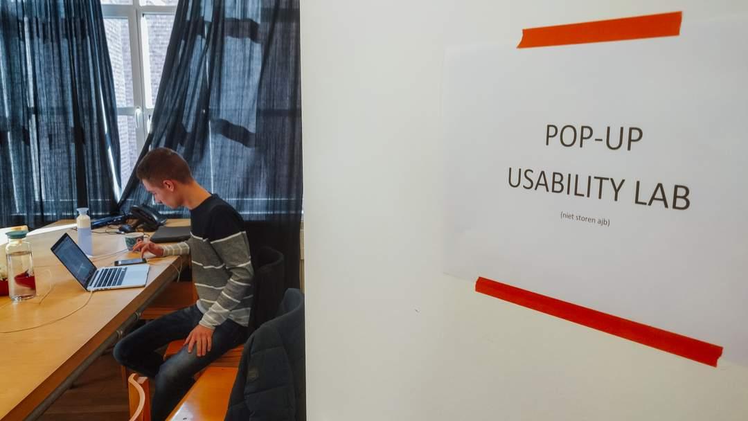 Het pop-up usability lab bij De Ambrassade