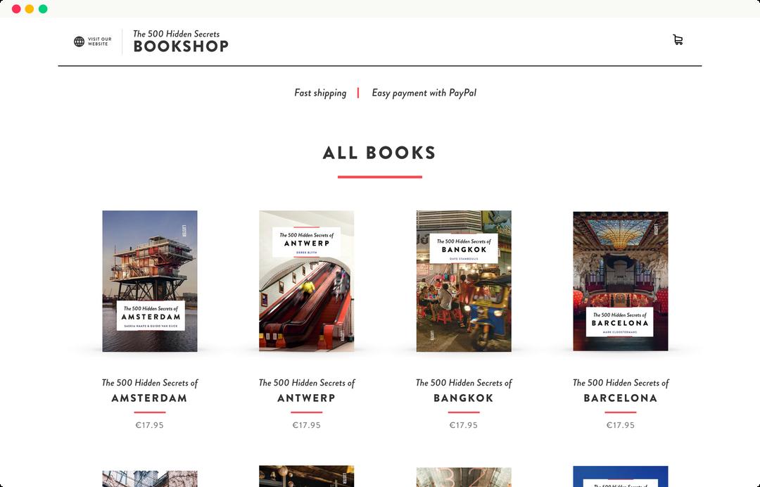 500 hidden secrets - book shop