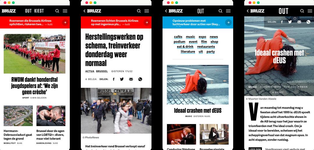 bruzz - mobile screens
