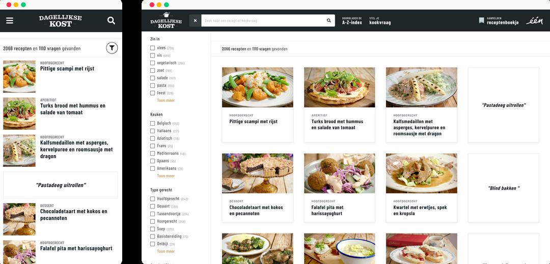 dagelijksekost.een.be - recept zoeken