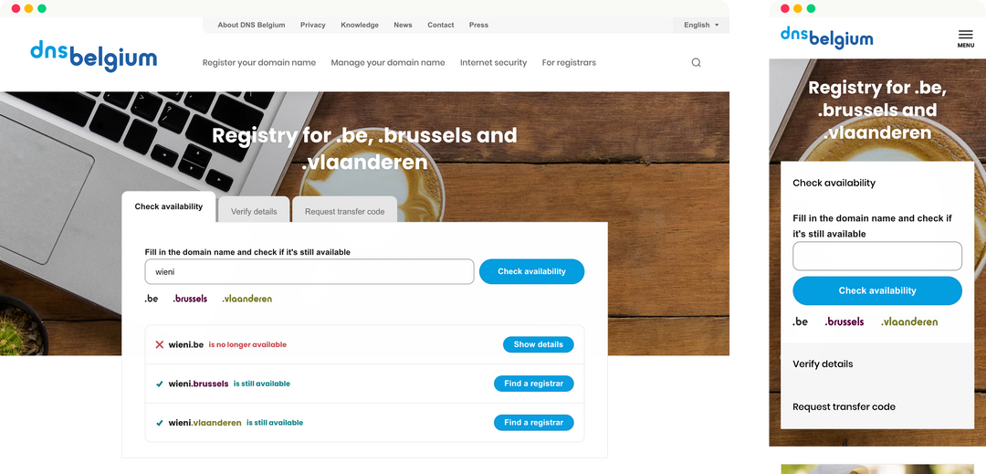 dns - homepage