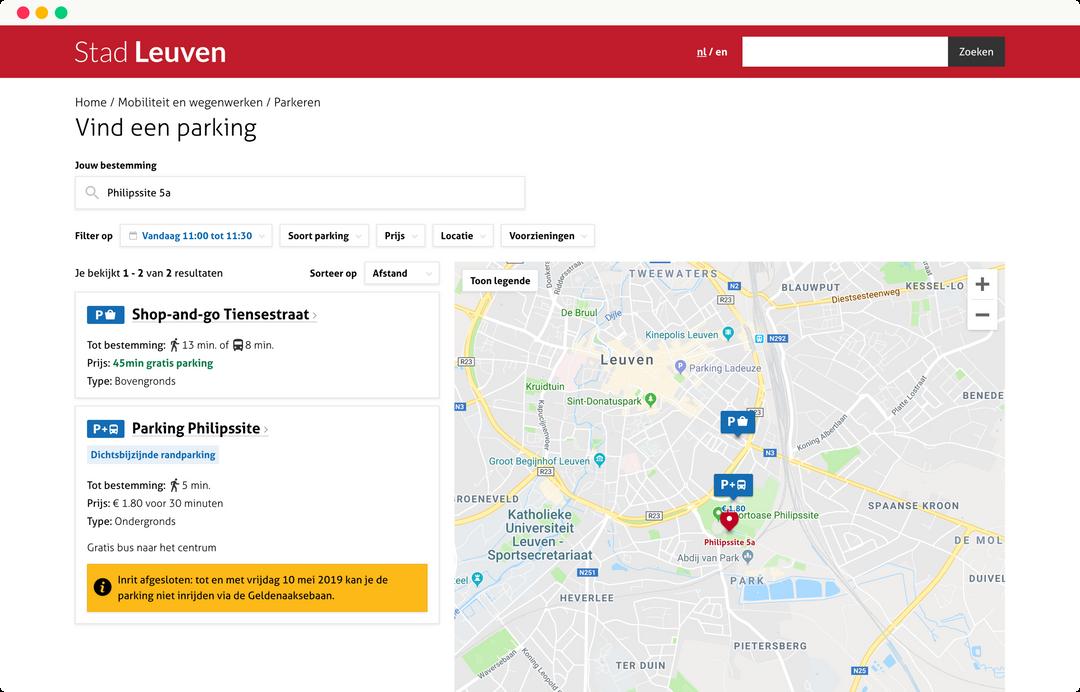 leuven mobiliteit - parkeerplaats zoeken