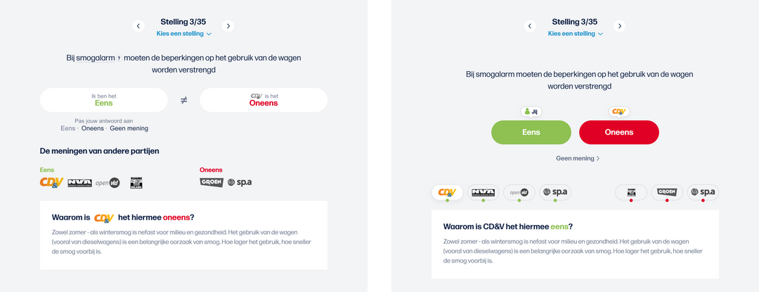 Met een aantal kleine UX verbeteringen maakten we aanpassen van antwoorden veel gebruiksvriendelijker