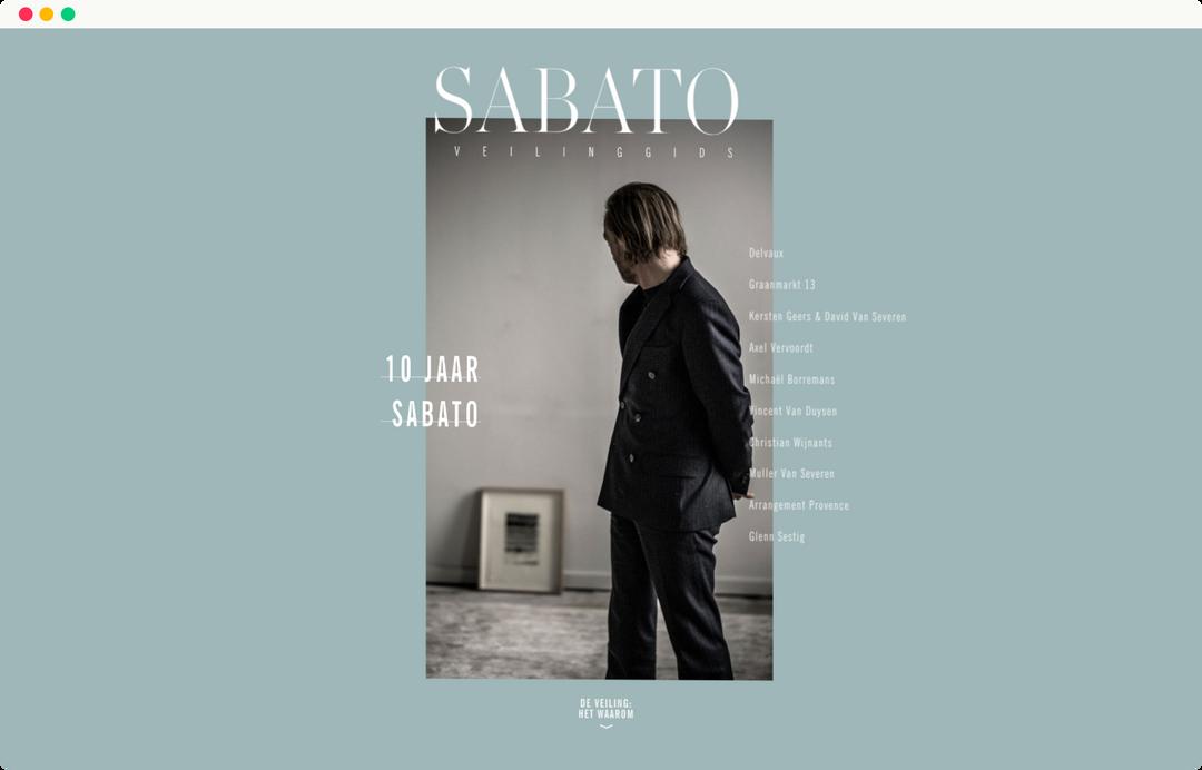 de tijd - 10 jaar sabato homepage